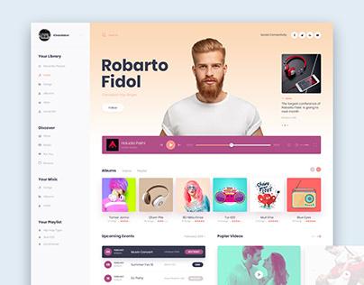 Music Desktop UI Design