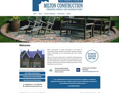 Responsive Website Design, Milton Construction