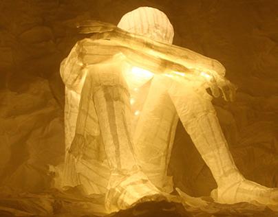 Fragility | Paper Self-portrait Sculpture