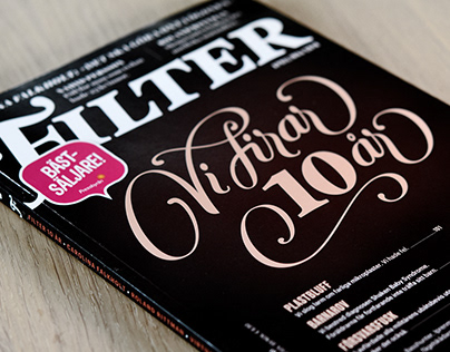 Cover lettering and vignettes for Magasinet Filter