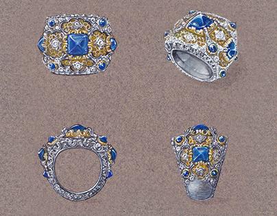 BUCCELLATI style Ring design