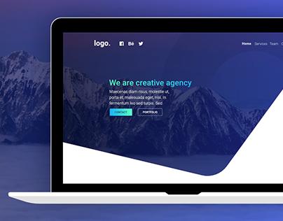 Creative agency - onepage