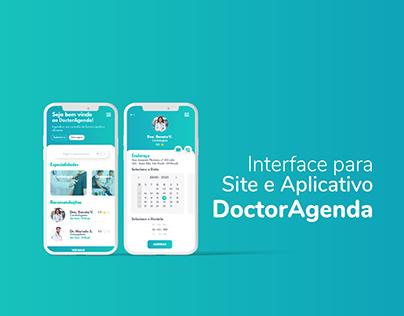 DoctorAgenda - Interface para Site e Aplicativo