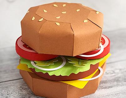 3D Paper Cheeseburger