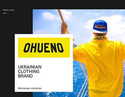 Website concept. Web design. Online store