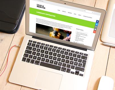 Leaf & Mortar - wordpress website