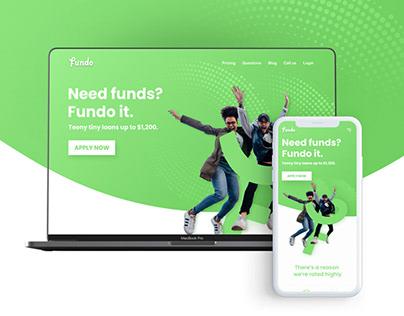 Fintech Website design