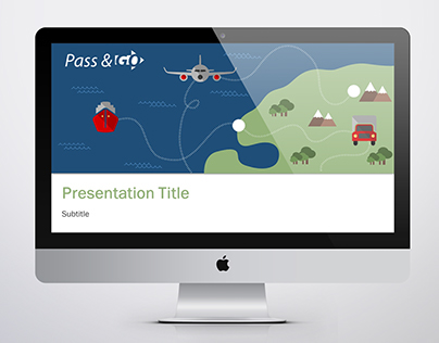 "Concept Logo and Template ""Pass & Go Transportation"""