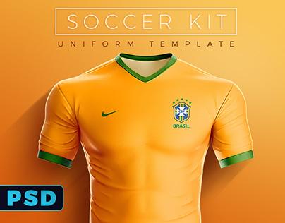 Goal Soccer Kit Uniform Template