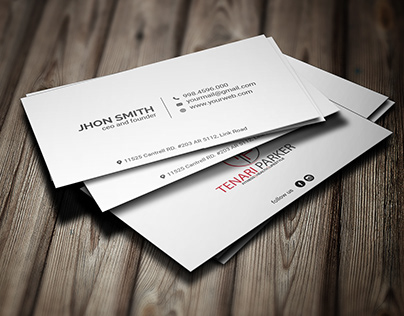 Free Download Minimalist Business Card Template!