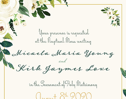 Wedding Invite & Other Materials