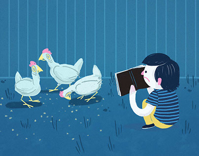 Teaching chickens how to read