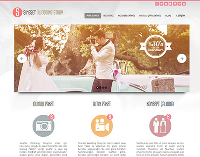 Responsive Wedding Web Pages Design