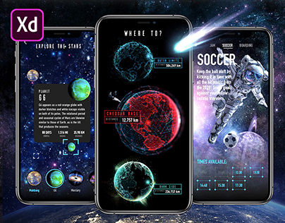 Adobe XD Live: Outer Space App