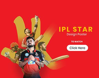 VIRAT and DHONI - IPL Design Poster