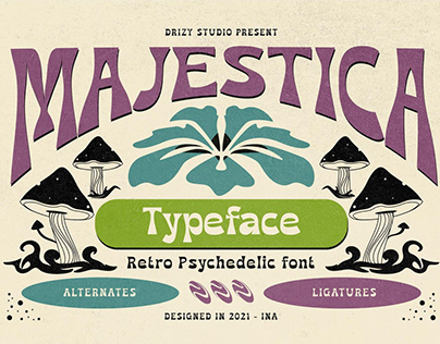 Majestica - Psychedelic Display Font