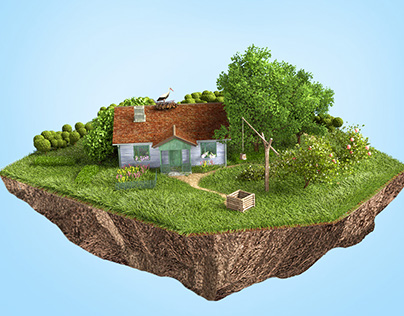 Ukraine Miniatures. 3d illustrations