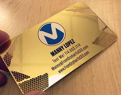 Custom Gold Metal Business Card