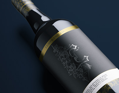 Wine Bottle Design for the Elegido brand
