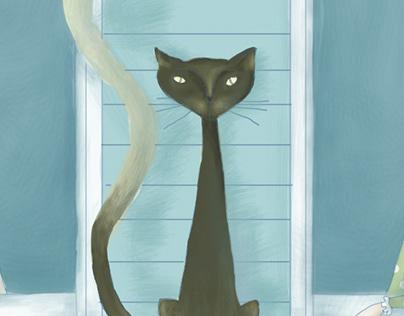 """""""the genius of the cat"""" book cover"""