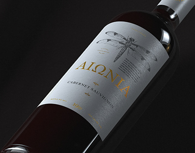 Aiónia Wine Label Design   Packaging