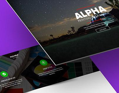 Alphaprinting web design UX/UI