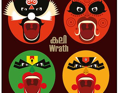 'Kali' (Wrath)- A series of vector Designs .