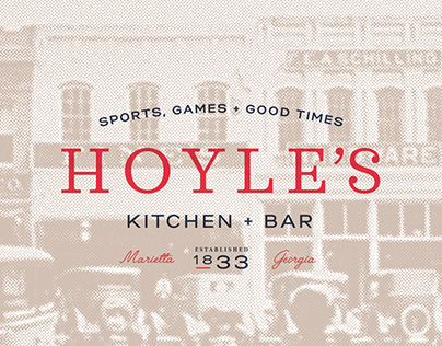 Hoyles Kitchen + Bar branding