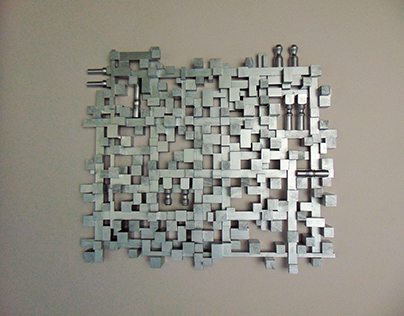 Wooden panel - version one - mosaic