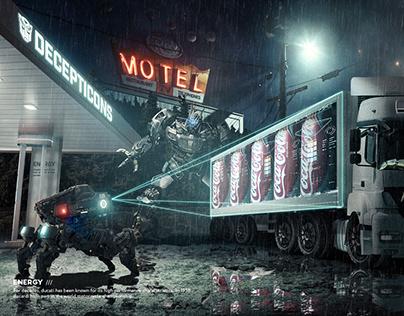 【CocaCola威震天】锦依卫学员商业级合成海报