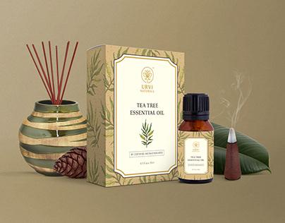 Urvi Naturals - Essential Oil Packaging Design