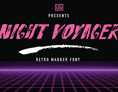 Night Voyager Retro Font