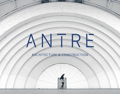 Шрифтовой логотип для архитектурного бюро ANTRE