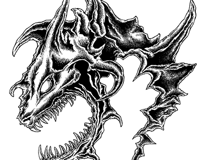 Dragons inking
