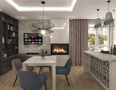 Modern & Shiny - Apartment Interior Design
