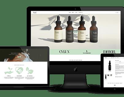 Responsive Website Design for a skincare/beauty company