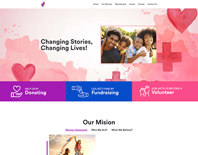 One Page Wordpress Landing Page Website For Charity