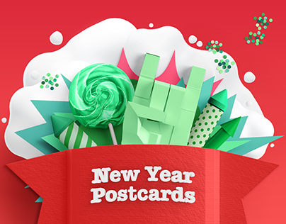 Hand Drawn New Year Postcards