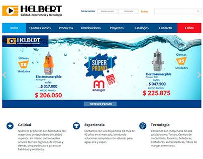 Interfaz web Helbert y Cia