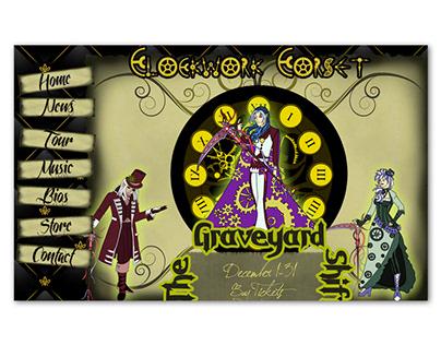 Clockwork Corset Band Website