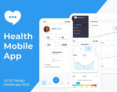 Health Mobile App - UX/UI Design