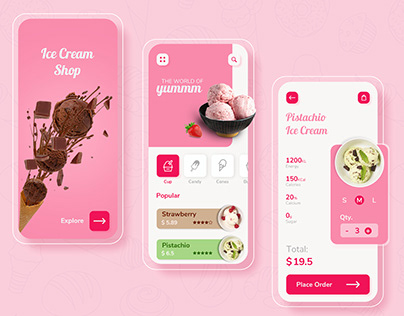 Ice Cream App Design