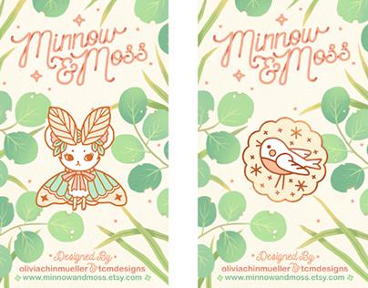Minnow & Moss Card Backing
