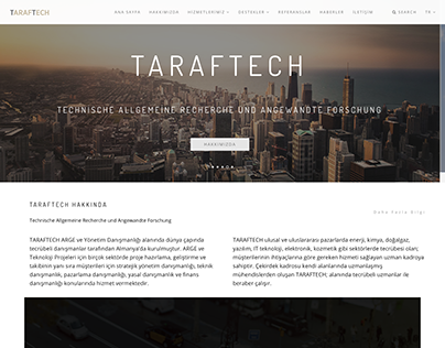 Taraftech.de Website Design