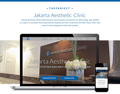Company Profile for Jakarta Aesthetic Clinic Website