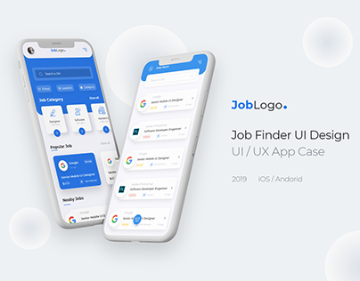 Job Finder Mobile App - UI / UX Case Study