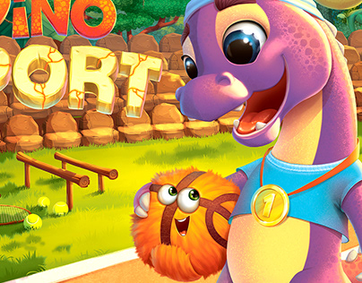 "Board Game ""Dino Sport"""