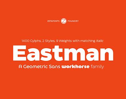 Eastman Typeface - A geometric Sans workhorse family