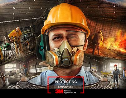 3M safety equipments key visual