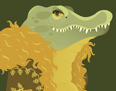 Animal Fashion | A is for Alligator in Afghan coat